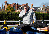 Photo:Richard Lane/Richard Lane Photography. London Wasps training. 15/02/2012. Director of Rugby, Dai Young oversees scrummaging.