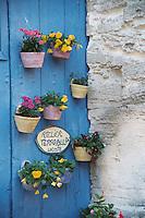 Flower pot door