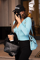 US model Irina Shayk is leaving the hotel with a Versace cap  in Milan during Milan Fashion Week. Milan (Italy) on February 28th, 2021 / 280221 Credit: Action Press/MediaPunch **FOR USA ONLY**