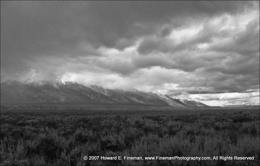 Gathering storm over Grand Tetons
