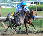 Keen Ice (no. 7) ridden by Javier Castellano and trained by Dale Romans, wins the 142nd running of the grade 1 Travers Stakes for three years olds on August 29, 2015 at Saratoga Race Course in Saratoga Springs (Sophie Shore/Eclipse Sportswire)