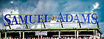 22 June 2019: The Samuel Adams Sam Deck Sign is seen during a game against the Toronto Blue Jays at Fenway :Park in Boston, MA. The Blue Jays rallied to defeat the Red Sox 8-7 in the 2nd game of their 3-game series. Mandatory Credit: Ed Wolfstein Photo *** RAW (NEF) Image File Available ***