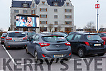 familiies enjoying the drive in cinema in the INEC car park on Friday night