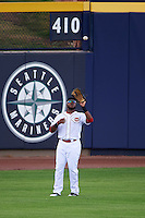 Peoria Javelinas outfielder Phillip Ervin (9) catches a fly ball during an Arizona Fall League game against the Mesa Solar Sox on October 21, 2015 at Peoria Stadium in Peoria, Arizona.  Peoria defeated Mesa 5-3.  (Mike Janes/Four Seam Images)
