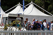 A queue for the ice cream van during the semi final round of the Aberdeen Asset Management Paul Lawrie Matchplay being played over the Fidra Links at Archerfield, East Lothian from 4th to 7th August 2016:  Picture Stuart Adams, www.golftourimages.com: 06/08/2016
