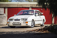 BNPS.co.uk (01202) 558833. <br /> Pic: TheMarket/BNPS<br /> <br /> Pictured: 80's legend... The RS500. <br /> <br /> Oh Boy, what a racer...<br /> <br /> A classic Ford Sierra Cosworth which has been described as 'the most original in existence' has sold at auction for £60,000.<br /> <br /> The 1987 RS model remains in pristine condition, having covered just 30,000 miles, and is among the best 'Fast Fords' on the roads today<br /> <br /> Owned by an esteemed Ford collector, it has spent the last 12 years in storage to ensure it looks as fresh as the day it left the factory.