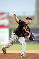 Rob Scahill of the Modesto Nuts during game against the Lancaster JetHawks at Clear Channel Stadium in Lancaster,California on July 15, 2010. Photo by Larry Goren/Four Seam Images