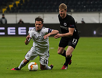 Foul von Martin Hinteregger (Eintracht Frankfurt) an Valentin Stocker (FC Basel) führt zum Freistosstor von Samuele Campo (FC Basel) - 12.03.2020: Eintracht Frankfurt vs. FC Basel, UEFA Europa League, Achtelfinale, Commerzbank Arena<br /> DISCLAIMER: DFL regulations prohibit any use of photographs as image sequences and/or quasi-video.
