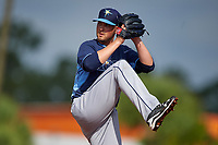 Tampa Bay Rays Grayson Garvin (28) during a minor league Spring Training intrasquad game on April 1, 2016 at Charlotte Sports Park in Port Charlotte, Florida.  (Mike Janes/Four Seam Images)