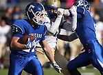 Carson's Colby Brown runs against Reed during the NIAA D-1 North title game at Bishop Manogue High School in Reno, Nev., on Saturday, Nov. 29, 2014.<br /> Photo by Cathleen Allison