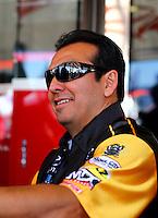 Nov 8, 2013; Pomona, CA, USA; NHRA funny car driver Tony Pedregon during qualifying for the Auto Club Finals at Auto Club Raceway at Pomona. Mandatory Credit: Mark J. Rebilas-