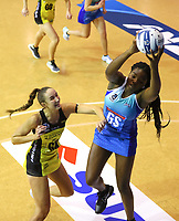Kelly Jury and Grace Nweke in action during the ANZ Championship netball match between Northern Mystics and Central Pulse at the Auckland Netball Centre in Auckland, New Zealand on Saturday 18 July 2020. Photo: Simon Watts / bwmedia.co.nz