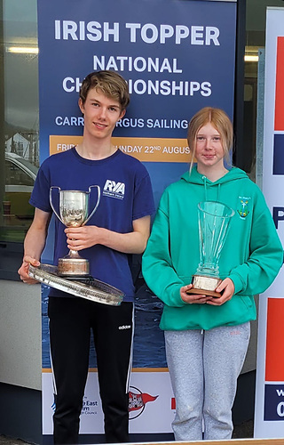Daniel Palmer and Julie O'Neill were overall Irish Topper winners 2021