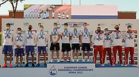 Romania silver; Russia Gold; Poland Bronze<br /> 4x100 fresstyle relay men podium<br /> swimming, nuoto<br /> LEN European Junior Swimming Championships 2021<br /> Rome 2176<br /> Stadio Del Nuoto Foro Italico <br /> Photo Giorgio Scala / Deepbluemedia / Insidefoto