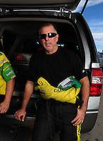 Oct. 31, 2008; Las Vegas, NV, USA: NHRA funny car driver Tony Bartone during qualifying for the Las Vegas Nationals at The Strip in Las Vegas. Mandatory Credit: Mark J. Rebilas-