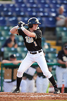 Pittsburgh Panthers right fielder Nico Popa (1) at bat during a game against the Siena Saints on February 24, 2017 at Historic Dodgertown in Vero Beach, Florida.  Pittsburgh defeated Siena 8-2.  (Mike Janes/Four Seam Images)