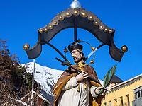 Nepomuk Brunnen in Imst, Tirol, Österreich, Europa<br /> Nepomuk Fountain, Imst, Tyrol, Austria, Europe