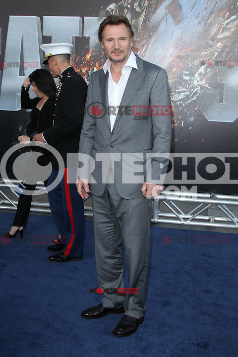 Liam Neeson at the film premiere of 'Battleship,' at the NOKIA Theatre at L.A. LIVE in Los Angeles, California. May, 10, 2012. ©mpi20/MediaPunch Inc.