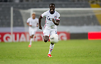 GUADALAJARA, MEXICO - MARCH 24: Benji Michel #14 of the United States chases down a loose ball during a game between Mexico and USMNT U-23 at Estadio Jalisco on March 24, 2021 in Guadalajara, Mexico.