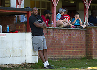 Flackwell Heath manager Marcus Richardson during the UHLSport Hellenic Premier League match between Flackwell Heath v Tuffley Rovers at Wilks Park, Flackwell Heath, England on 20 April 2019. Photo by Andy Rowland.