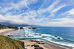 Seascape from Ecola State Park, Oregon, U.S. Highway 101 along the Oregon Coast.