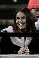 A fan smiles during the Greene King IPA Championship match between London Scottish Football Club and Nottingham Rugby at Richmond Athletic Ground, Richmond, United Kingdom on 7 February 2020. Photo by Carlton Myrie.