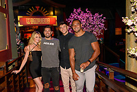 LAS VEGAS, NV - July 15, 2021: Hannah Godwin, Dylan Barbour, Blake Horstman and Clay harbor pictured at Benihana Restaurant at Westgate Las Vegas Resort & Casino in Las Vegas, NV on July 15, 2021. <br /> CAP/MPI/GDP<br /> ©GDP/MPI/Capital Pictures