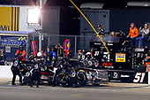 NASCAR Camping World Truck Series<br /> Toyota Tundra 250<br /> Kansas Speedway, Kansas City, KS USA<br /> Friday 12 May 2017<br /> Kyle Busch, Cessna Toyota Tundra pit stop<br /> World Copyright: Russell LaBounty<br /> LAT Images<br /> ref: Digital Image 17KAN1rl_5629