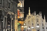 - Milan, Duomo square....- Milano, piazza del Dumo