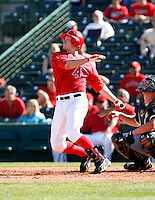 Matt Brown - Los Angeles Angels - 2009 spring training.Photo by:  Bill Mitchell/Four Seam Images