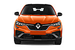 Car photography straight front view of a 2021 Renault Arkana RS-Line 5 Door SUV Front View