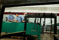 Workers at Max Daetwyler Corporation, which manufactures equipment and products for the printing industry, including pressroom applications in the gravure and flexographic industry. The founders of Daetwyler USA started the company in 1975. Located in Huntersville, NC, the manufacturing company employs more than 70 people.
