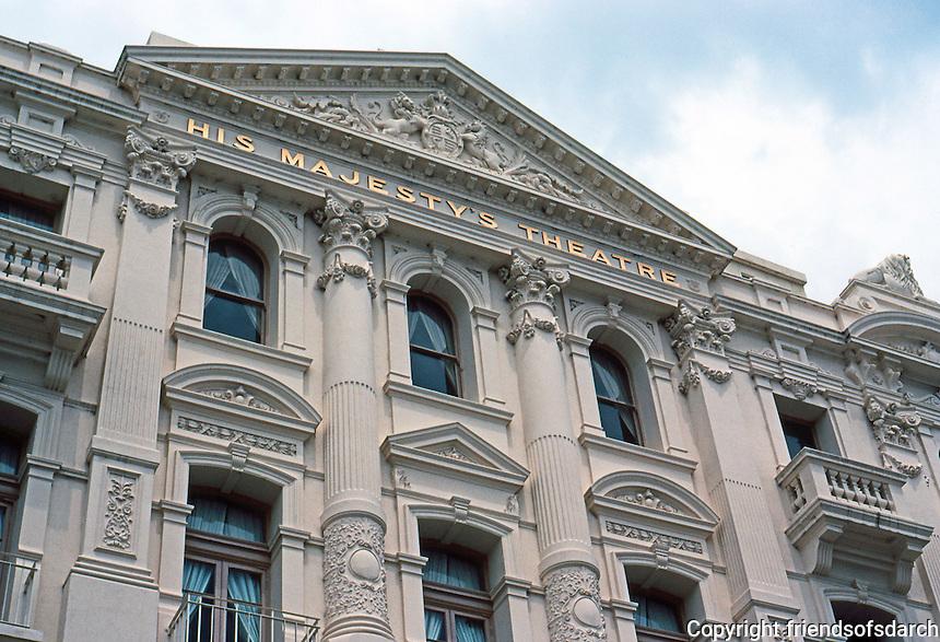 Perth: His Majesty's Theatre, facade. William Wolf, 1903-04. Photo '82.