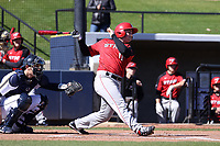 GREENSBORO, NC - FEBRUARY 22: Dylan Reynolds #11 of Fairfield University hits the ball during a game between Fairfield and UNC Greensboro at UNCG Baseball Stadium on February 22, 2020 in Greensboro, North Carolina.