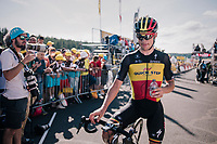 Belgian Champion Yves Lampaert (BEL/Quick Step Floors) after finishing<br /> <br /> Stage 14: Saint-Paul-Trois-Châteaux > Mende (187km)<br /> <br /> 105th Tour de France 2018<br /> ©kramon