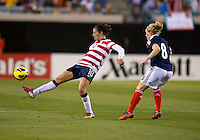 Carli Lloyd, Kim Little.  The USWNT defeated Scotland, 4-1, during a friendly at EverBank Field in Jacksonville, Florida.