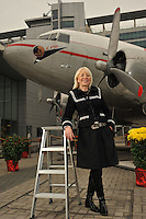 Margaretha Laseen, CX Cargo Manager from Los Angeles, posed at Cathay City in Hong Kong.<br />