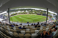A general view from the Cricket Museum Stand during the men's Dream11 Super Smash cricket match between the Wellington Firebirds and Northern Knights at Basin Reserve in Wellington, New Zealand on Saturday, 9 January 2021. Photo: Dave Lintott / lintottphoto.co.nz