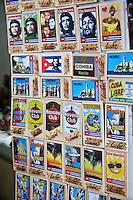 Cuba, Havana.  Souvenir Plaques, Che Guevara, Cuban Rum.
