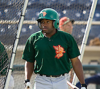 July 19, 2007: Boise Hawks' outfielder Jonathan Wyatt exits the batting cage prior to facing the Everett AquaSox in a Northwest League game at Everett Memorial Stadium in Everett, Washington.