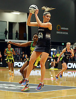 17.09.2016 Silver Ferns Te Paea Selby-Rickit in action during the Taini Jamison netball match between the Silver Ferns and Jamaica played at the Energy Events Centre in Rotorua. Mandatory Photo Credit ©Michael Bradley.