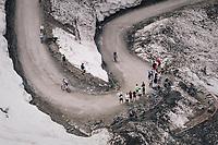 Georg Preidler (SUI/Groupama - FDJ) up the gravel roads of the Colle delle Finestre <br /> <br /> stage 19: Venaria Reale - Bardonecchia (184km)<br /> 101th Giro d'Italia 2018