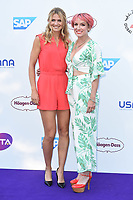 Betthanie Mattek Sands and Lucy Safarova<br /> arriving for the Tennis on the Thames WTA event in Bernie Spain Gardens, South Bank, London<br /> <br /> ©Ash Knotek  D3412  28/06/2018