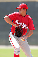 Philadelphia Phillies pitcher James Birmingham #67 during an Instructional League game against the Pittsburgh Pirates at Pirate City on October 11, 2011 in Bradenton, Florida.  (Mike Janes/Four Seam Images)