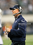 Dallas Cowboys head coach, Jason Garrett, in action during the Thanksgiving Day game between the Miami Dolphins and the Dallas Cowboys at the Cowboys Stadium in Arlington, Texas. Dallas defeats Miami 20 to 19...