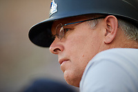 Trenton Thunder manager Jay Bell (11) during a game against the Richmond Flying Squirrels on May 11, 2018 at The Diamond in Richmond, Virginia.  Richmond defeated Trenton 6-1.  (Mike Janes/Four Seam Images)