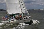 Sailboat Sailing in the Charleston South Carolina Harbor