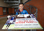 Jason Holt after training promoting season ticket sales