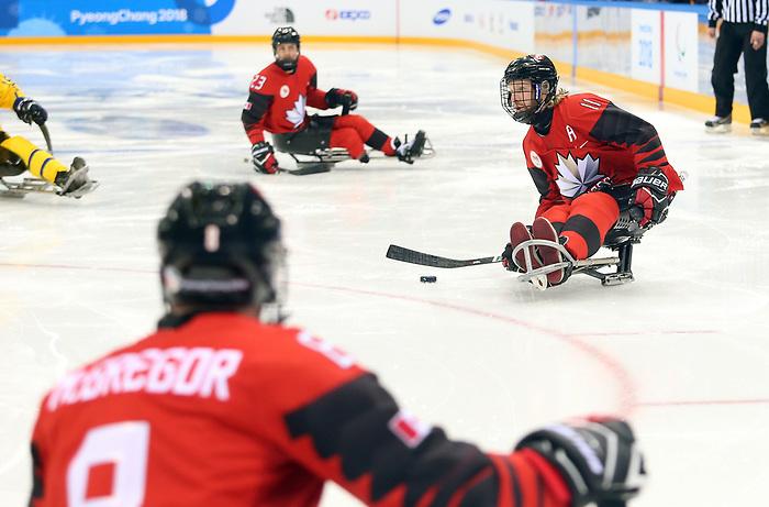 Adam Dixon, PyeongChang 2018 - Para Ice Hockey //  Para-hockey sur glace.<br /> Canada plays Sweden in Para Ice Hockey // Le Canada affronte la Suède en para hockey sur glace. 10/03/2018.