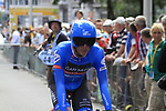 Daniel Martin (IRL) Garmin Sharp Barracuda waits to start the Prologue of the 99th edition of the Tour de France 2012, a 6.4km individual time trial starting in Parc d'Avroy, Liege, Belgium. 30th June 2012.<br /> (Photo by Eoin Clarke/NEWSFILE)